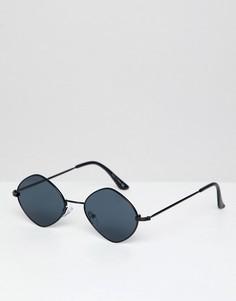 Черные овальные солнцезащитные очки ALDO - Черный