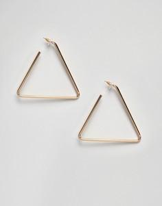 Золотистые треугольные серьги ALDO - Золотой