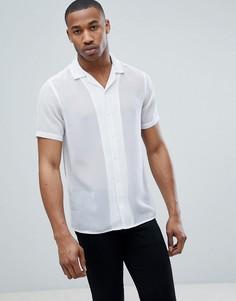 Прозрачная рубашка классического кроя с отложным воротником ASOS DESIGN - Белый