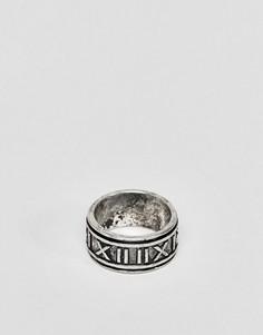 Кольцо с римскими цифрами ASOS DESIGN - Серебряный