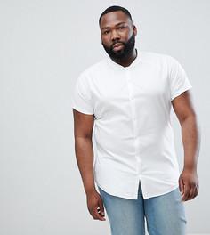 Эластичная белая рубашка с воротником в рубчик ASOS DESIGN - Белый