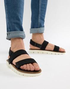 Черные сандалии на белой подошве ASOS DESIGN - Черный