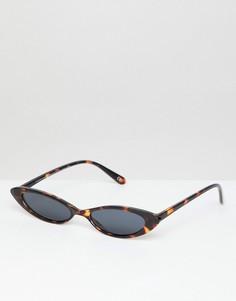 Небольшие очки кошачий глаз ASOS DESIGN - Коричневый