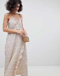 Платье-комбинация миди с принтом Intropia - Мульти