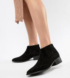Кожаные ботинки Vero Moda - Черный