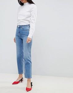 Синие прямые джинсы с завышенной талией ASOS DESIGN Farleigh - Синий