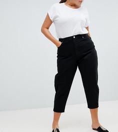 Черные джинсы бойфренда ASOS DESIGN Curve - Черный