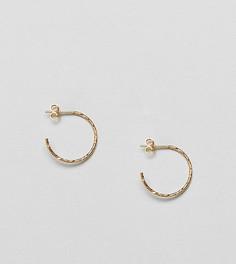 Серебряные позолоченные серьги-кольца ASOS DESIGN - 20 мм - Золотой