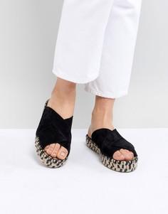 Замшевые сандалии Free People Tuscan - Черный