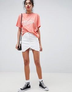 Джинсовая мини-юбка Parisian - Белый