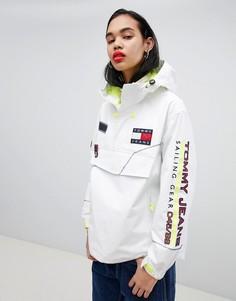 Oversize-куртка в стиле 90-х Tommy Jeans Capsule 5.0 - Белый