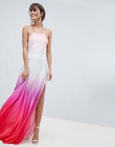 Плиссированное платье макси ASOS DESIGN - Мульти