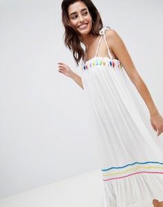 Пляжное платье миди River Island - Белый