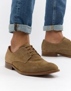 Замшевые туфли на шнуровке с натуральной подошвой ASOS DESIGN - Светло-бежевый