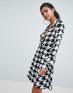 Платье мини с запахом ASOS DESIGN - Мульти