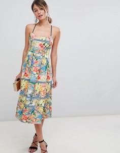 Платье макси в полоску ASOS DESIGN - Мульти