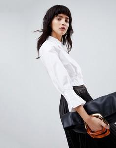 Короткая рубашка со складками ASOS WHITE - Белый