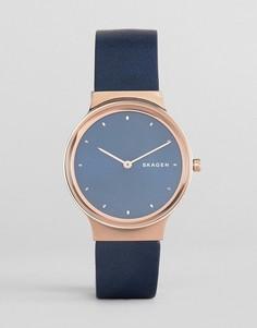 Часы с кожаным ремешком Skagen SKW2706 - Темно-синий