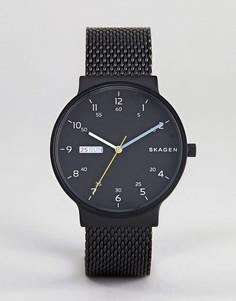 Часы с сетчатым ремешком Skagen SKW6456 Ancher - Черный
