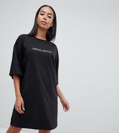 Платье-футболка Limited Edition Missguided Tall - Черный