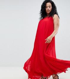 Плиссированное платье макси Missguided Plus - Красный