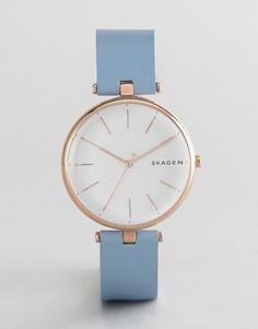 Часы с кожаным ремешком Skagen SKW2711 Signatur - Синий