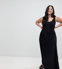 Платье макси с бретелями ASOS DESIGN Curve - Черный
