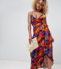 Платье макси с принтом New Look petite - Мульти
