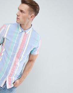 Рубашка в разноцветную полоску New Look - Мульти