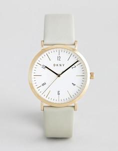 Позолоченные часы с белым циферблатом DKNY - Золотой