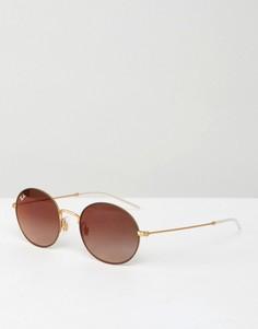 Круглые солнцезащитные очки Ray-Ban - Золотой