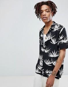 Черная рубашка с длинными рукавами и принтом AllSaints - Черный