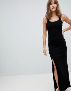 Облегающее платье макси River Island - Черный