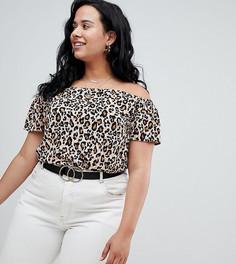 Топ с леопардовым принтом New Look Curve - Черный