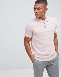 Розовая футболка-поло с короткими рукавами Burton Menswear - Розовый