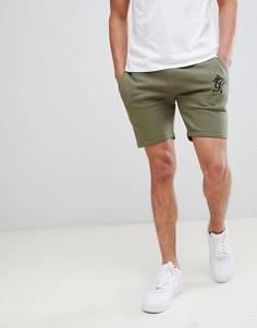 Оливковые шорты из флиса Gym King - Зеленый