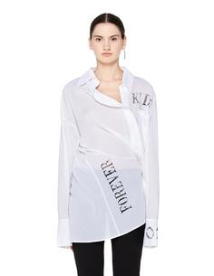 Белая блузка с принтом Ann Demeulemeester