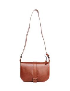 Коричневая кожаная сумка A.F.Vandevorst
