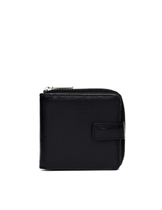 Черный кожаный кошелек Yohji Yamamoto