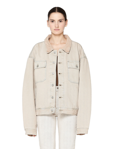 Бежевая джинсовая куртка Yeezy