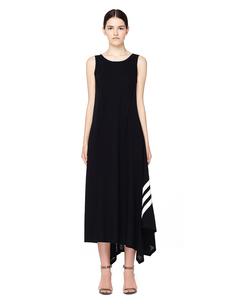 Черное асимметричое платье Y-3