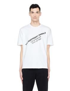Белая футболка с принтом Undercover