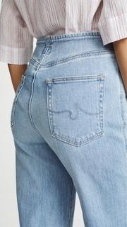 AG The Etta Waistless Wide Leg Cropped Jeans
