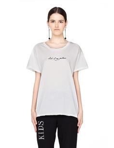 Белая футболка с принтом Ann Demeulemeester