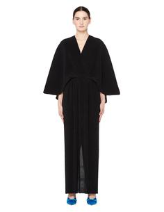 Черное платье со спущенным рукавом The Row