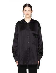 Черная шелковая блузка Ann Demeulemeester