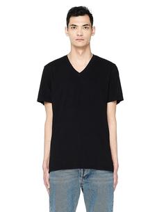 Черная футболка из хлопка James Perse