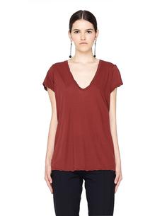 Бордовая футболка из хлопка James Perse