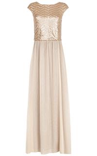 Платье с декором из пайеток La Reine Blanche