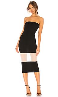 Миди-платье без бретелек primrose - NBD